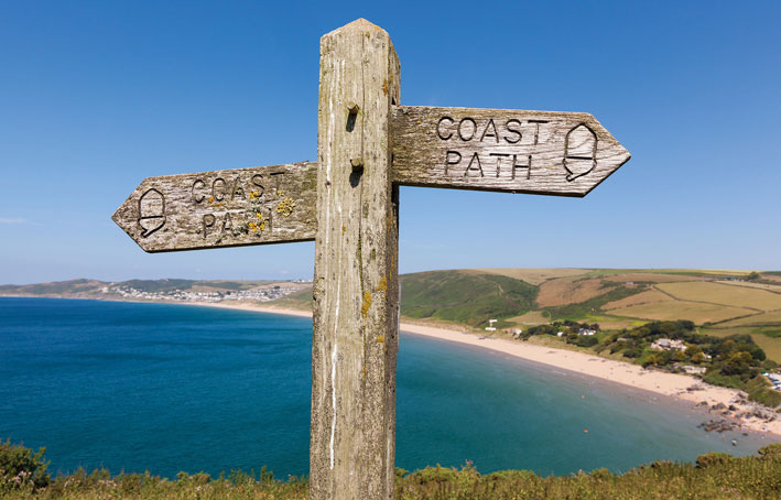 The Retreat coastal path at Romansleigh Park