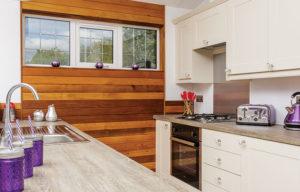 The Retreat kitchen at Romansleigh Park