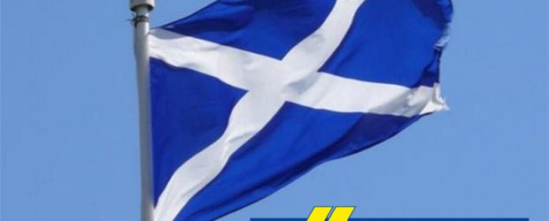 scottish flag and Willerby Holiday Homes
