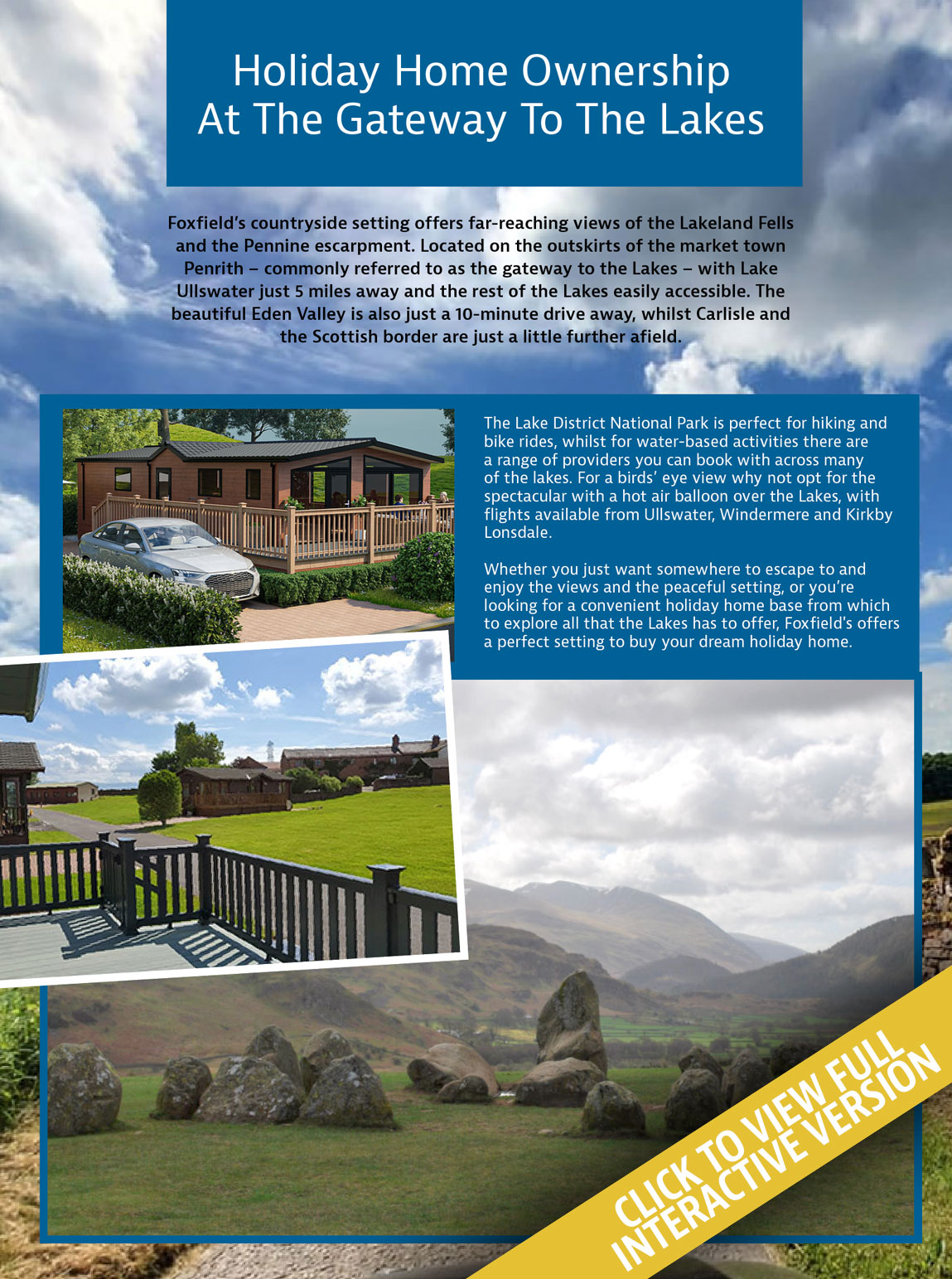 Foxfields Holiday Home Living Magazine Issue 21