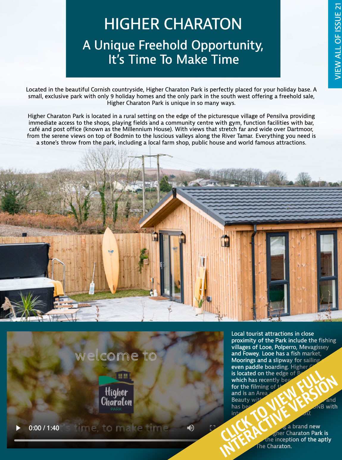 Higher Charaton Holiday Home Living Issue 21
